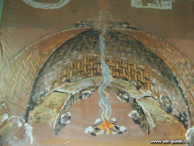 Реконструкция древнего жилища (Малая Сыя, Хакасия)